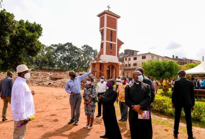 Museveni Joins War To Rebuild  Demolished St. Peter's Church