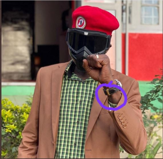 Chameleone Buys Teargas Mask, But Rubber-band Watch Raises Eyebrows