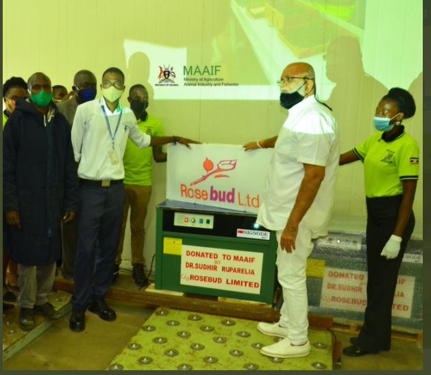 Tycoon Sudhir Donates Equipment To MAAIF Endpoint Inspection Area
