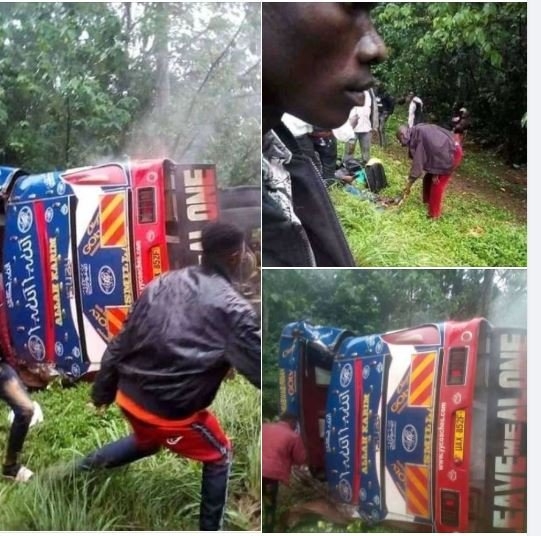 Over 30 Escape Death, Nursing Injuries After YY Coches Bus Overturns In Mabira Forest