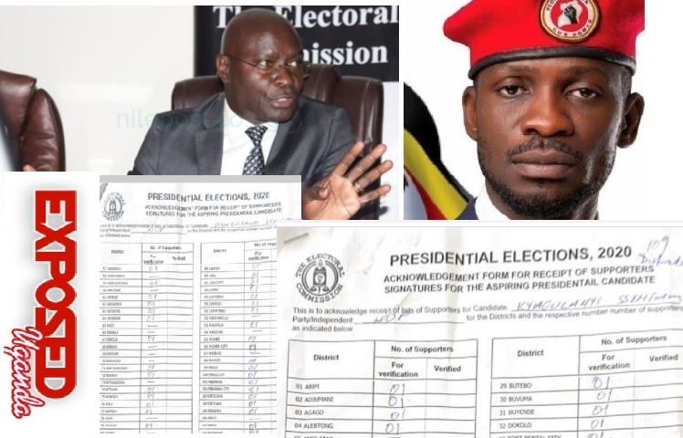 Bobi Wine Presents 33,000 Presidential Endorsement Signatures To E.C After Police Raid At NUP Offices