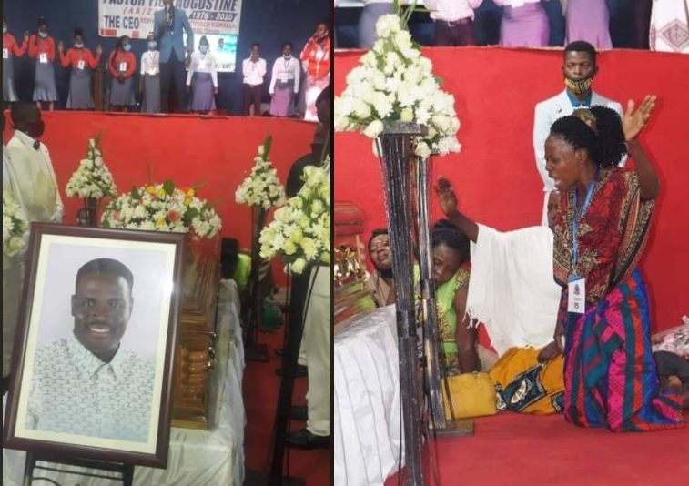 Grief And Tears: Mourners Pay Last Respects To Yiga, Pastor Asked To Be Buried With TV
