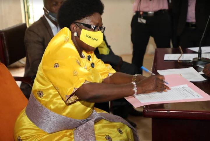 Speaker Kadaga Nominated For 2021 Elections, Vows To Build Roads, Boost Agriculture