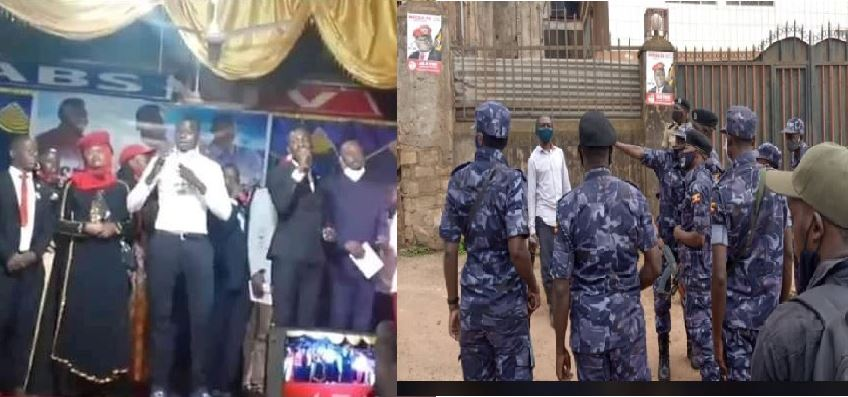 Police Deploy Heavily In City As Bobi Wine Storms Ps. Yiga's Church For Burial
