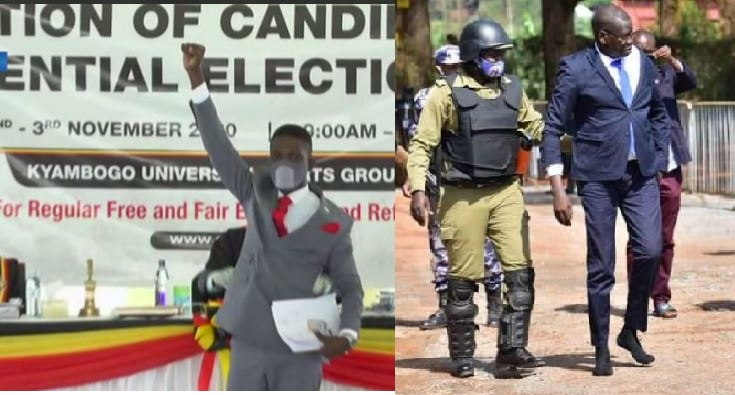 Bobi Wine Nominated, FDC's Amuriat  Goes For Nomination Shoeless As Teargas, Bullets Rock City
