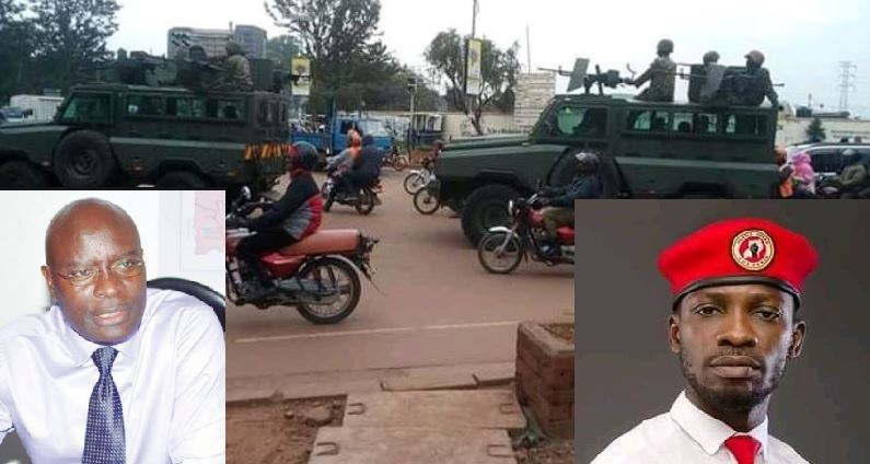 Security Beefed In Kampala As Bobi Wine Meets E.C Officials Over Police Brutality