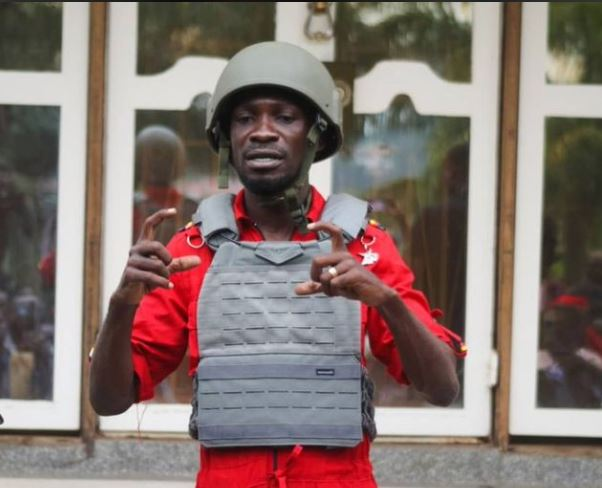 """""""They Want To Kill Me'-Bobi Says As He Resumes Campaigns On Bullet Proof Vest"""