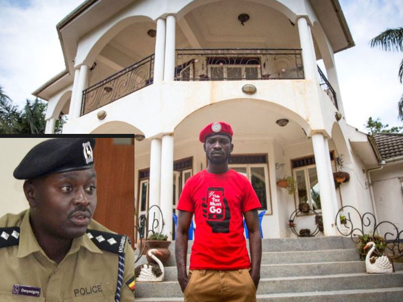 Police Deny Arresting Anyone During Raid At Bobi Wine's Home Ahead Of Presidential Elections