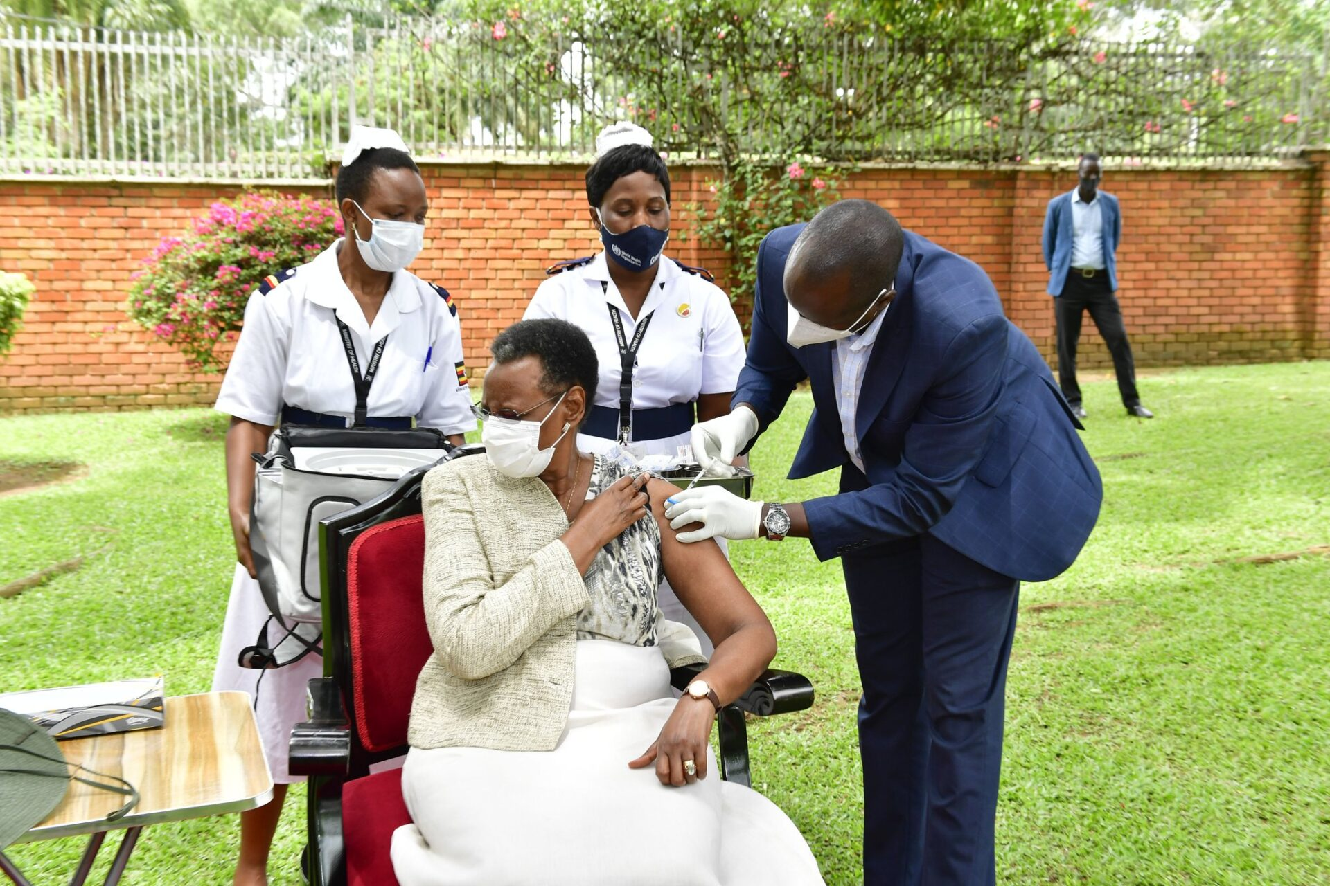 Museveni Encourages Ugandans To Take COVID-19 Vaccine After He, First Lady Got Vaccinated