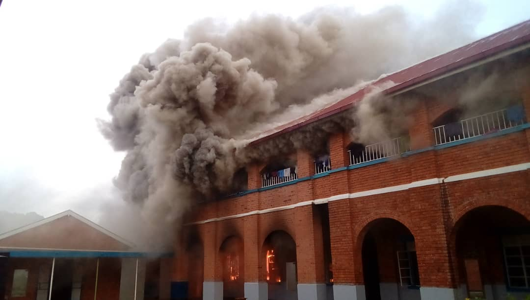 Fire guts King's College Budo Girls Dormitory, No Casualties Recorded