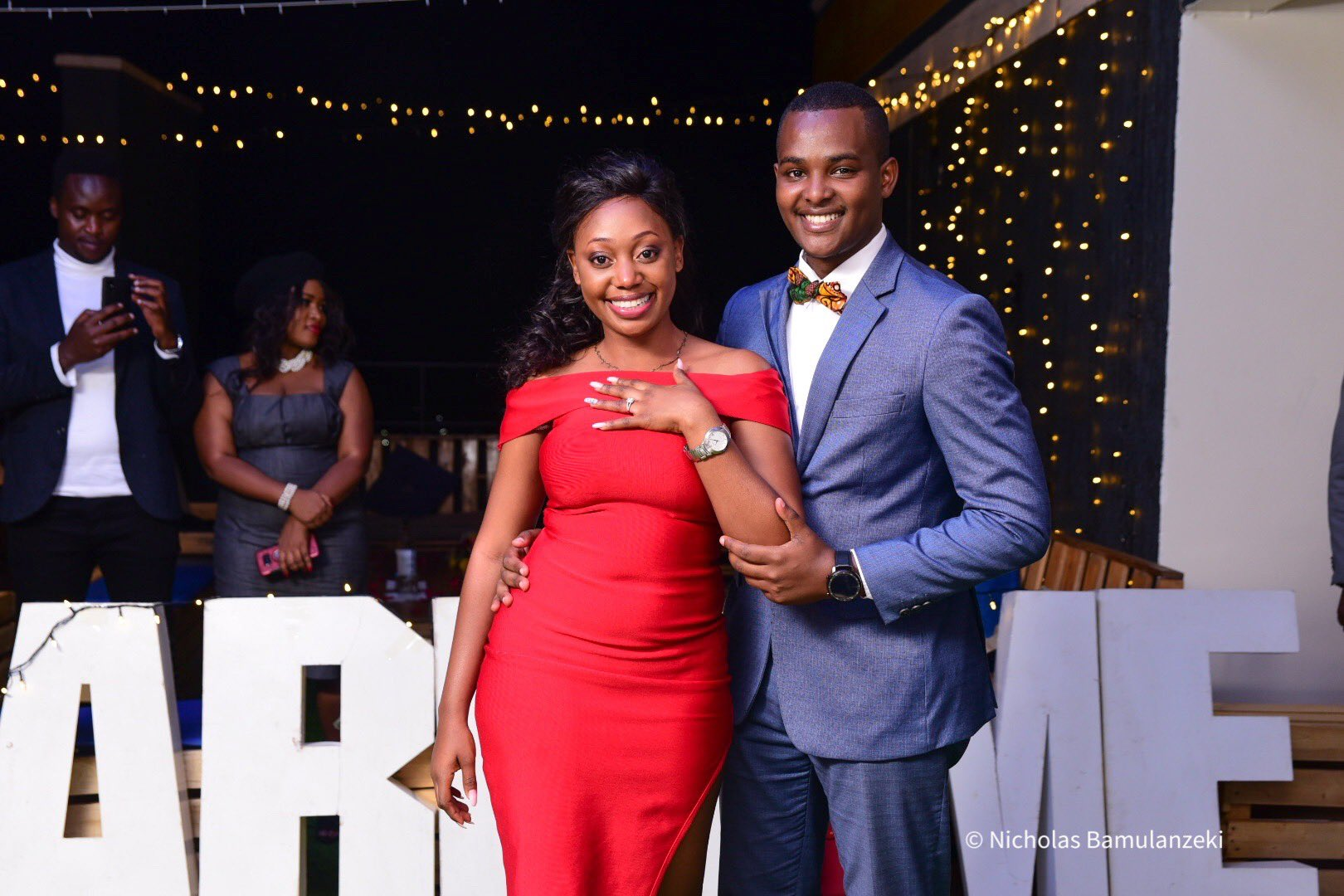 """""""She said yes!"""" – NBS TV's Canary Mugume engaged to long time lover"""