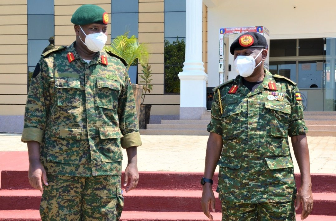 Lt Gen Muhoozi Kainerugaba Officially hands over office to the newly appointed commander