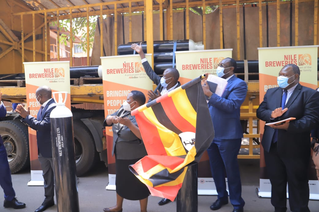 Nile Breweries Donates 300 Oxygen Gas Cylinders To The Fight Against Pandemic