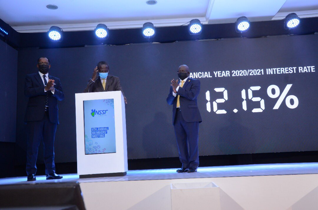 NSSF Announce A 12.15% Interest Rate for The FY 2020/21, Members To Share UGX 1.52tn