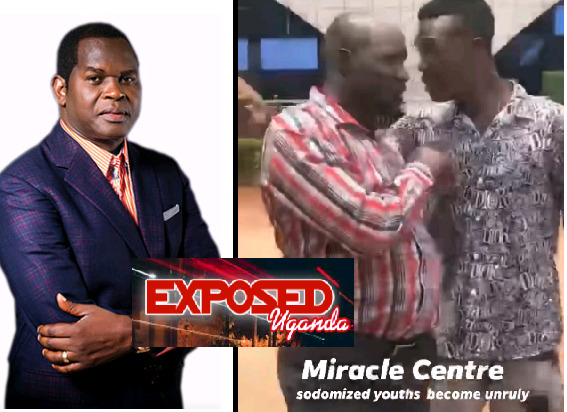 Battle As Sodomised Boys Storm Pastor Kayanja's Miracle Centre Church, Accuse Him Of Shattering Their Bums